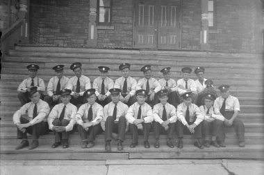 Almonte Firemen On Town Hall Steps 1948