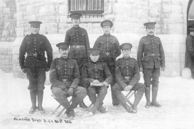 Almonte Soldiers Seated And Standing