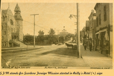 Bridge Street At Tracks Looking East 1918