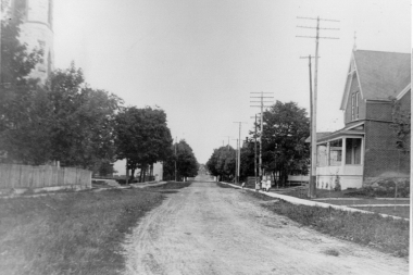 Bridge Street Near Catholic Church 1900