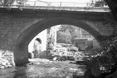 View From Under Stone Arch Bridge