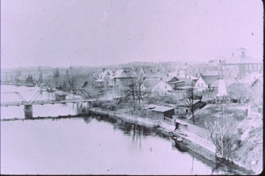View Towards Wylie House From Railroad Bridge