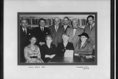 1954 Library Board With Jf Dunn