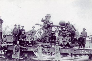 Almonte Steamer On Flatcar May 17 1910