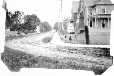 Corner Of Bridge Country Streets 1908