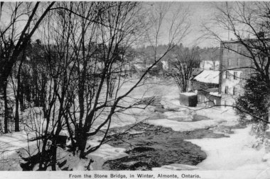 View From Back Bridge To Lower Falls 1942